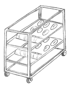 Proofing trolleys / racks